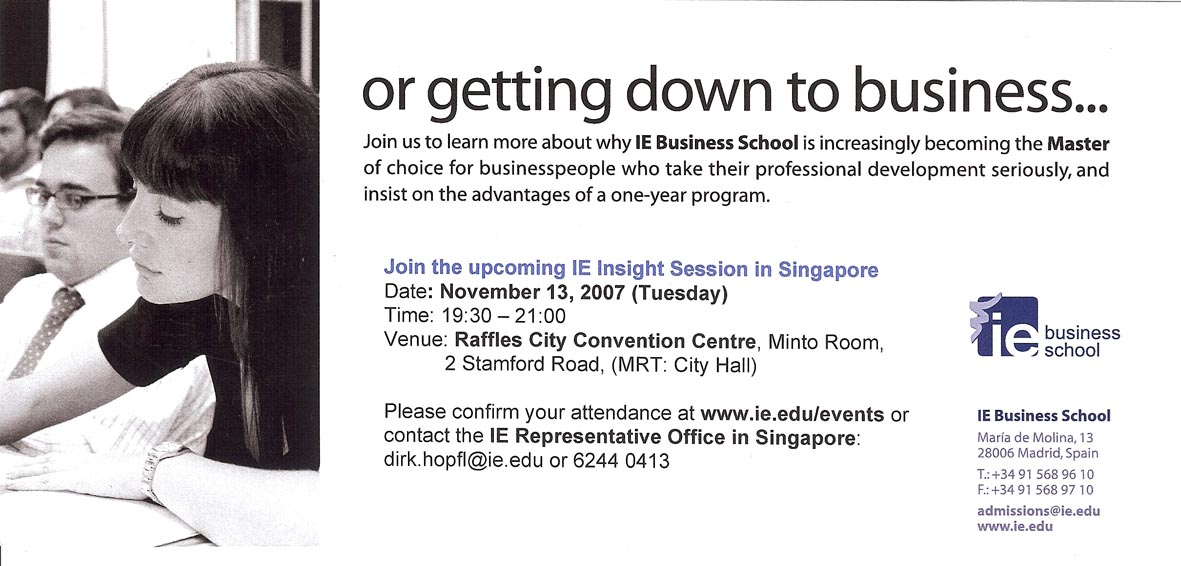 IE Insight Session in Singapore