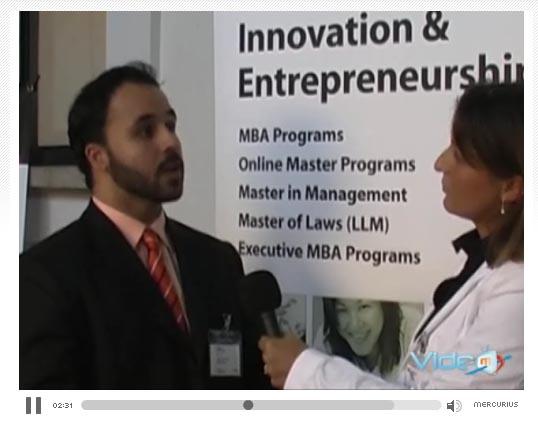Kostas Tsoukalas talking about IE Business School