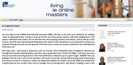Living IE Online Masters