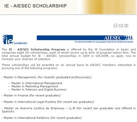 IE - AIESEC Scholarship program
